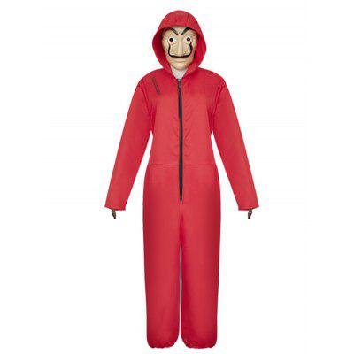 Costume de Combinaison Rouge pour Performance Halloween