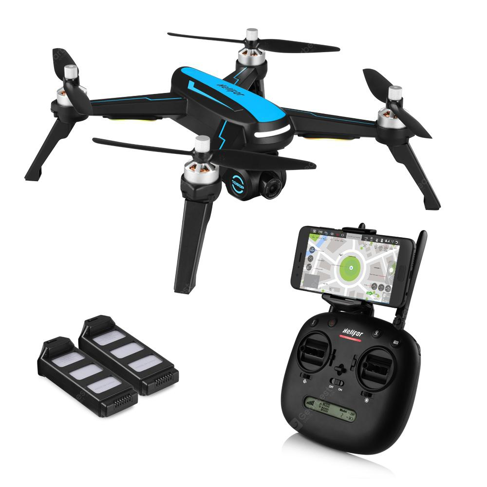 helifar B3 5G-WiFi FPV Brushless Quadcopter RC dengan Bateri Bateri - BLACK