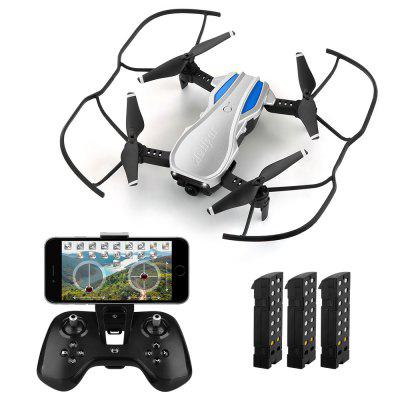 helifar H1 720P WiFi FPV Altitude Hold Foldable RC Quadcopter with 3 Batteries Image