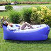 Outdoor Lazy Couch Sleeping Bag Portable Collapsible Fast Air Inflatable Sofa Bed Beach Inflatable Cushion Bed - DARK BLUE SQUARE HEAD