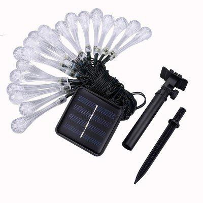 Solar Light String 30 LED Water Drop Decoration Light Outdoor Waterproof Christmas Garden Lantern