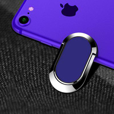 Oval Metal Ring Buckle Mobile Phone Holder 360 Degree Finger Ring Magnetic Car Flat Back Support Frame