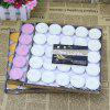 Smokeless Scented Candle Boiled Tea Figure Round Paraffin Small Candle Tea Wax Courtship Party Candle - 12 PAQUETS DE BOUGIES GéLIFIéES