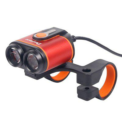 Bicycle Headlights Double LED Riding Lights Lighting 400 Lumens 18650 Battery 8-22.5 Hours Battery Life