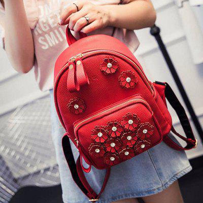 PU Leather School Girls Travel Backpacks Rucksack Handbag