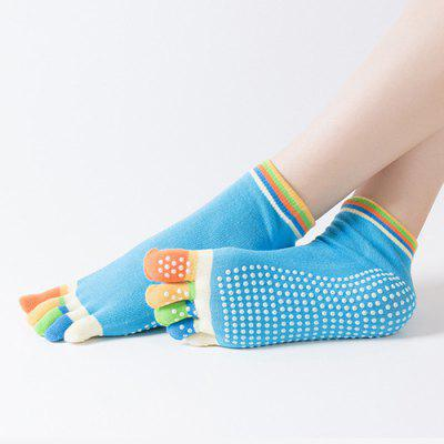 Women Sports Five Finger Socks Cotton Toe Backless Yoga Socks Dance Non-slip Yoga Fitness Sock