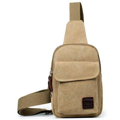 Men's Small Canvas Sling Messenger Chest Bag Shoulder Backpack