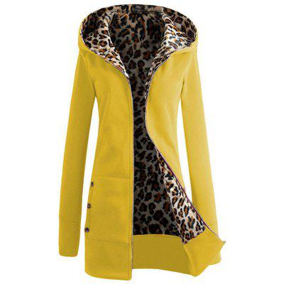 Thickened Leopard Coat Outwear