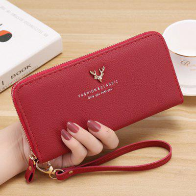 PU Leather Purse Long Zipper Wallet Credit Card Holders Phone Bag