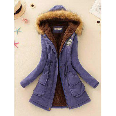 Fashion Comfortable Hooded Collar Waist Casual Jacket