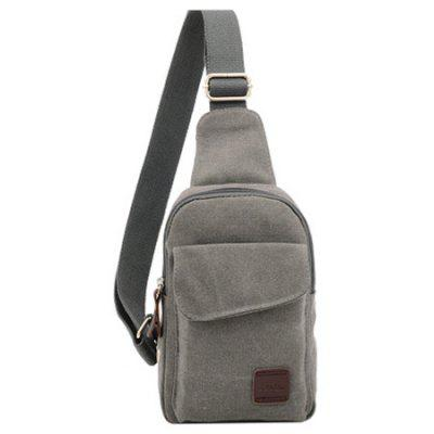Men  's Small Canvas Sling Messenger Rucsac Rucsac