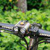 Bicycle Headlights Double LED Riding Lights Lighting 400 Lumens 18650 Battery 8-22.5 Hours Battery Life - RED