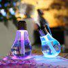 Creative USB Office Silent LED Colorful Light Bulb Humidifier Night Light Humidifier - D2 GREEN STONE + SILVER