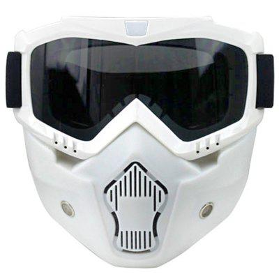 Retro Halter Mask Fashion Double Anti-fog Goggles With Mask Off-Road Goggles Detachable Mask
