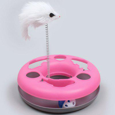 Cat Toy Bell Ball Vocal Track Forniture di gioco Puzzle Interactive Cat Catching Turntable