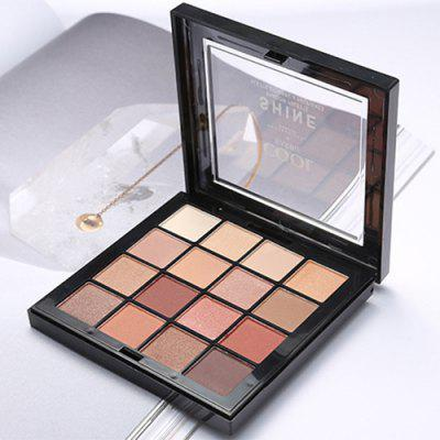Earth Color Eyeshadow Matte Nude Makeup Pearlescent Beginner Makeup 16 Color Eyeshadow