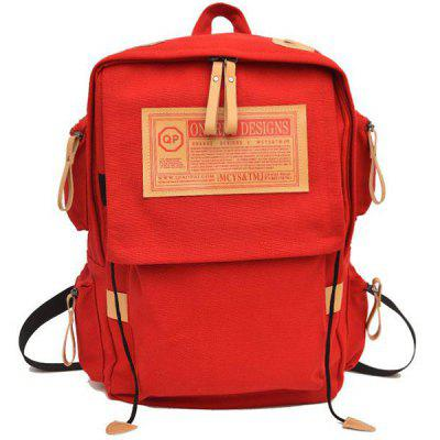 Mochila de lona Retro Outdoor Moda Folding Student Bag Travel