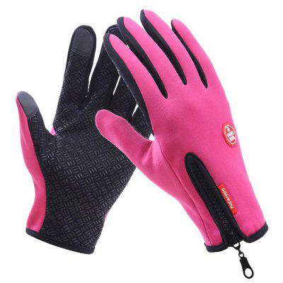 Guanti touch screen da uomo Winter Plus Velluto caldo da esterno impermeabile anti-skid da equitazione Donna Guanti da sci all-around sportivi