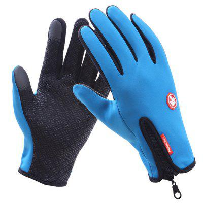Touch Screen Gloves Men's Winter Plus Velvet Warm Outdoor Waterproof Anti-skid Riding Women's All-around Sports Ski Gloves