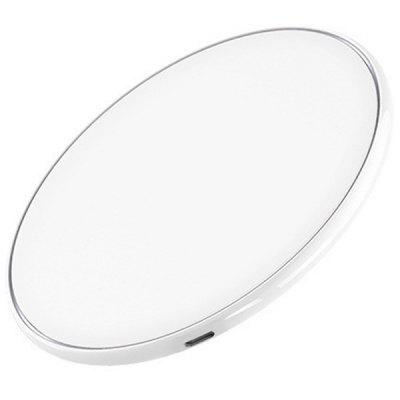 Smart Wireless Charger for iphone 8 Mobile Phone Round Wireless Charger Ultra-thin Wireless Charging