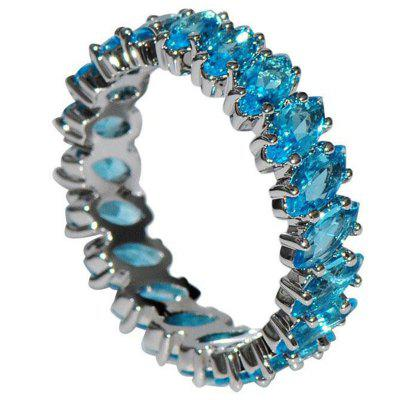 Sterling Silver Marquise inel natural Aquamarine inel