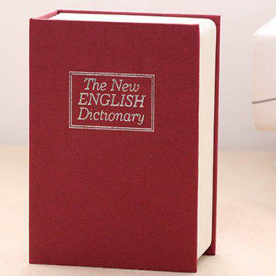 Small Mini Key English Dictionary Book Safe With Lock Coin Insurance Box Piggy Bank