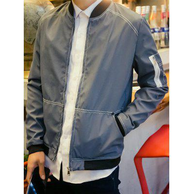 Men Leisure Slim Students Jacket