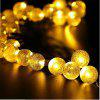 30 LED Solar Light String Bubble Ball String Christmas Lights Flash Tree Wedding Lights String - COLOR