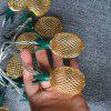 Metal Pineapple Shaped Christmas Garden Party Decoration String Lamp - 2 METERS 20 LIGHTS - BATTERY