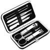 Stainless Steel Nail Clipper 8 Piece Set Of Nail Trimming Eyebrows Ear Manicure Nail Manicure Knife Tool Set - SILVER