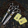Japanese Steel Pipe Hairdressing Scissors Professional Hair Salon Hairdressing Scissors Flat Cut Bangs Scissors - PIPE 6 INCH FLAT CUT WITHOUT LEATHER BAG