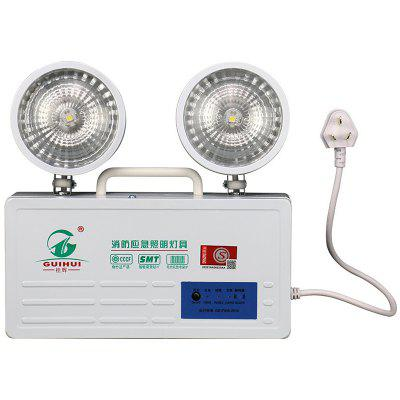 LED Fire Emergency Lighting Wall Hanging Double Headlight Charging Lamp