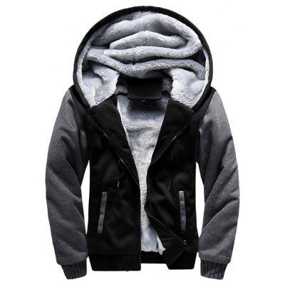 Heren stijlvolle warme Full Zip Hooded honkbal actieve outdoor jas