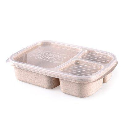 Food Grade Rice Husk Lunch Box Wheat Cutlery Lunch Box Transparent Cover Work Travel Portable Wheat Straw Snack Box