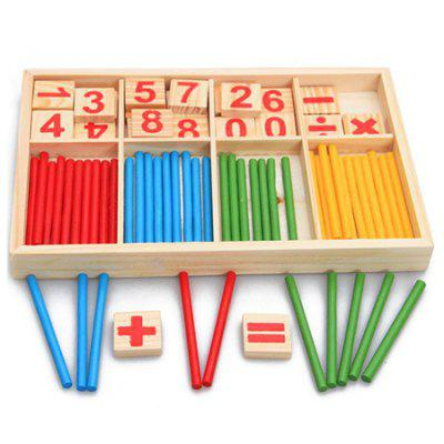 Hölzerne Kinder zählt Kindergärten Baby Early Education Math Toy