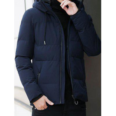 Men Popular Zipper Polyester Cotton Coat
