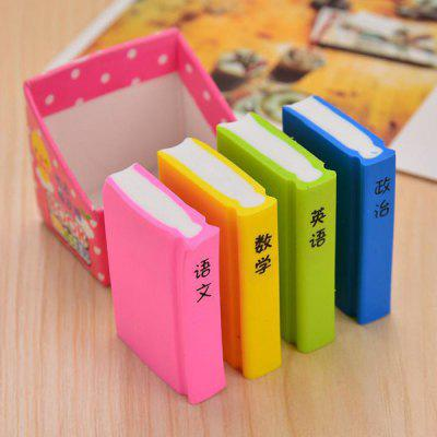 Lovely Books Erasers Creative Stationery Textbooks Rubber Student Prizes