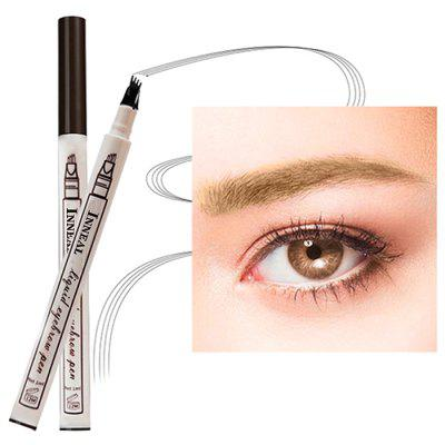 Three Four Eyebrow Pencil Liquid Eyebrow Pencil Extremely Fine Eyebrow Pencil 4 Head Eyebrow Pencil Waterproof Durable Four Fork Eyebrow Pencil
