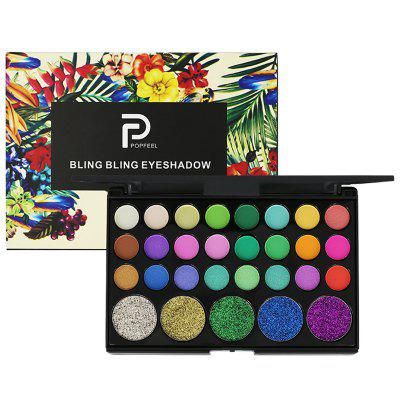 POPFEEL 29 Color Eyeshadow Disc Sequins Diamond Earth Color Glitter Sparkling Crystal Stage Shiny Powder