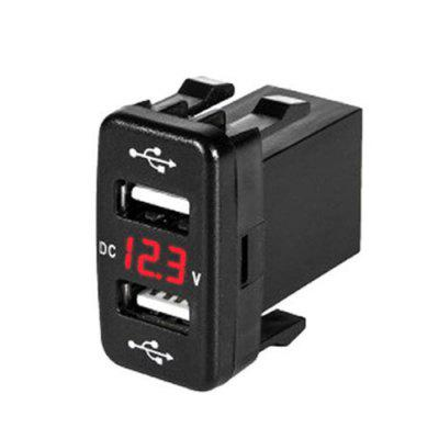 USB Charger Original Hole Installation 4.2A Car Charger With Voltage Display for Big Toyota Old Version Car