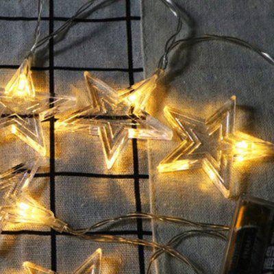 Boże Narodzenie Five-star Lights 10 LEDs Lights Strip String Holiday Stars Lamps Bar Garden Decoration