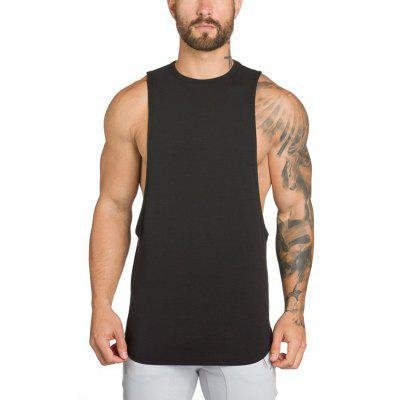 Man Tank Tops Sleeveless Vest Solid Gym Bodybuilding Fitness Clothing Fit