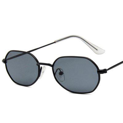 New Polygonal Sunglasses Irregular Small Box Colorful Marine Film Sunglasses MenGlasses