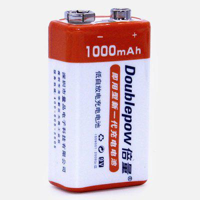 Double 9V 1000mAh 6F22 Rechargeable Battery Large Capacity Lithium Battery