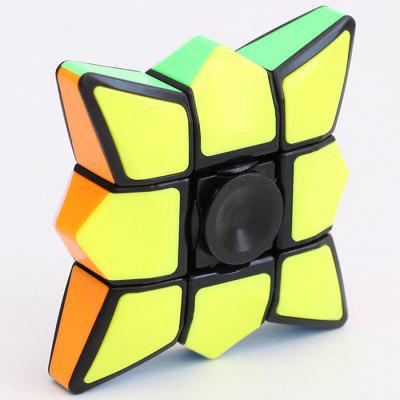 [The Magical Real Colour Finger Finger Gyro Rubik  's Cube] Smooth Finger Fun Deformation Puzzle Giocattoli per bambini