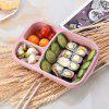 Food Grade Rice Husk Lunch Box Wheat Cutlery Lunch Box Transparent Cover Work Travel Portable Wheat Straw Snack Box - NORDIC - BEIGE