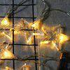 Boże Narodzenie Five-star Lights 10 LEDs Lights Strip String Holiday Stars Lamps Bar Garden Decoration - CZERWONY