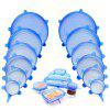 TV Silicone Stretch Fresh Cover Sealed Silicone Fresh Cover Stretch Lid Telescopic Silicone Cover 6 Sets - BLUE