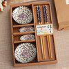 Business Gifts Marriage Gifts Gifts Bamboo Chopsticks Plate Gift Box Cutlery Sets - BLUE