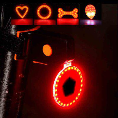 Twórczy rower Taillight High Brightness Led Warning Taillights Mountain Bike Lights Heart-shaped Round Aliens